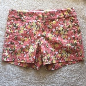 J. Crew Stretch Floral Shorts with pockets
